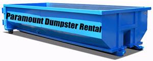 Paramount Dumpster Rental 10-yard Dumpster